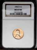 1956-D 1C MS67 Red NGC. NGC Census: (49/0). PCGS Population (17/0). Mintage: 1,098,201,088. Numismedia Wsl. Price: $125...