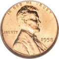 Lincoln Cents: , 1958 1C MS67 Red NGC. NGC Census: (47/0). PCGS Population (17/0). Mintage: 253,400,656. (#2848)...