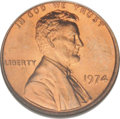 Lincoln Cents: , 1974 1C MS67 Red NGC. NGC Census: (17/0). PCGS Population (71/0).(#2971)...