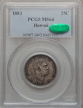 Coins of Hawaii: , 1883 25C Hawaii Quarter MS64 PCGS. CAC. PCGS Population (329/267).NGC Census: (218/280). Mintage: 500,000. ...