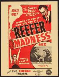 """Reefer Madness (New Line, R-1972). Special Poster (17"""" X 22""""). Exploitation"""