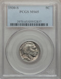 Buffalo Nickels: , 1930-S 5C MS65 PCGS. PCGS Population (430/145). NGC Census:(177/18). Mintage: 5,435,000. Numismedia Wsl. Price for problem...