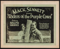 """Movie Posters:Comedy, Riders of the Purple Cows (Pathé, 1924). Title Lobby Card (11"""" X 14""""). Comedy.. ..."""