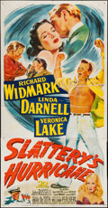 "Movie Posters:Drama, Slattery's Hurricane (20th Century Fox, 1949). Three Sheet (41"" X79""). Drama.. ..."