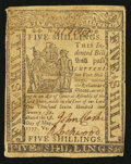 Colonial Notes:Delaware, Delaware May 1, 1777 5s Fine.. ...