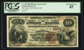 National Bank Notes:Missouri, Sedalia, MO - $10 1882 Brown Back Fr. 485 The Citizens NB Ch. #1971. ...