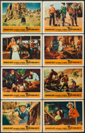 """Movie Posters:Western, Seven Men from Now (Warner Brothers, 1956). Lobby Card Set of 8 (11"""" X 14""""). Western.. ... (Total: 8 Items)"""