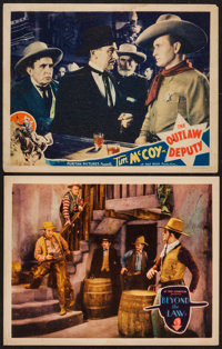 """Beyond the Law & Other Lot (Syndicate Pictures, 1930). Lobby Cards (2) (11"""" X 14""""). Western. ... (Total: 2..."""
