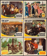 """Gene Autry Lot (Republic & Columbia, 1937-1950). Lobby Cards (12) (11"""" X 14""""). Western. ... (Total: 12 Ite..."""