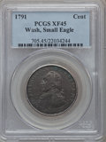 Colonials: , 1791 1C Washington Small Eagle Cent XF45 PCGS. PCGS Population(18/167). NGC Census: (5/49). ...