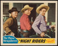 "Movie Posters:Western, The Night Riders (Republic, 1939). Lobby Card (11"" X 14""). Western.. ..."