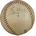 Autographs:Baseballs, 1920's Ty Cobb Single Signed Baseball....