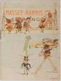 Books:Americana & American History, [Americana] Color Lithograph Massey-Harris Farm Machinery BrochureIllustrated With Fairies in the Style of Palmer Cox. Toro...
