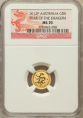 Australia: , 2012-P G$5 Year of the Dragon MS70 NGC. NGC Census: (1024). PCGSPopulation (0)....