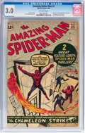 Silver Age (1956-1969):Superhero, The Amazing Spider-Man #1 (Marvel, 1963) CGC GD/VG 3.0 Off-whitepages....