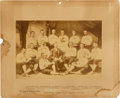 Baseball Collectibles:Photos, 1887 Detroit Wolverines Team Cabinet Photograph....
