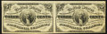 Fractional Currency:Third Issue, Fr. 1226 3¢ Third Issue Horizontal Pair Extremely Fine-About New.. ...