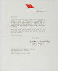 Autographs:Military Figures, Omar Bradley Typed Letter Signed...