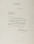 Autographs:Military Figures, Richard E. Byrd Typed Letter Signed...