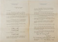 Autographs:Military Figures, William D. Leahy Typed Letter Signed...