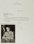 """Autographs:Military Figures, Alexander M. Haig Typed Letter Signed """"Al"""" with a Mark W. Clark Photograph Signed.... (Total: 2 Items)"""