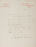 Autographs:Authors, Henry De Vere Stacpoole, Irish Writer. Autograph Letter Signed.Very good....