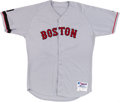 Baseball Collectibles:Uniforms, 2002 Derek Lowe Game Worn Boston Red Sox Jersey. ...