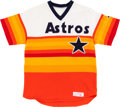 Baseball Collectibles:Uniforms, 1985 Enos Cabell Game Worn Houston Astros Jersey With Captain's CReference. ...