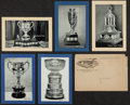 "Hockey Cards:Lots, 1934-1943 Bee Hive Group One Hockey Photos & Original Envelope(5) - All ""Dated"" Trophy variations! ..."