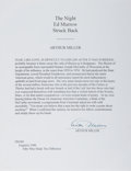 Autographs:Authors, Arthur Miller, American Playwright. Typed Excerpt Signed. Fine....