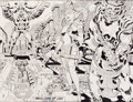 "Original Comic Art:Illustrations, Jack Kirby Lord of Light/Argo ""Pavilions of Joy"" Illustration Original Art (1978)...."