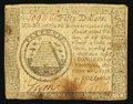 Colonial Notes:Continental Congress Issues, Continental Currency September 26, 1778 $50 Fine.. ...