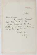 Autographs:Authors, Andrew Lang, Scottish Writer and Poet. Autograph Letter Signed.Mounted to paper. Very good....