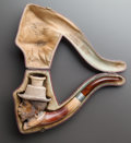 Paintings, A MEERSCHAUM PIPE OF A MOOR HEAD WITH ORIGINAL CASE. Late 19th century. 9 inches long (22.9 cm). ...