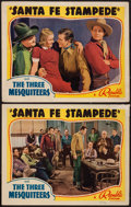 "Movie Posters:Western, Santa Fe Stampede (Republic, 1938). Lobby Cards (2) (11"" X 14""). Western.. ... (Total: 2 Items)"