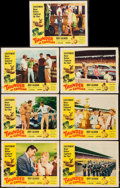 """Movie Posters:Sports, Thunder in Carolina (Howco, 1960). Lobby Cards (7) (11"""" X 14""""). Sports.. ... (Total: 7 Items)"""