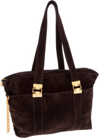 Donna Karen Brown Suede Shoulder Bag