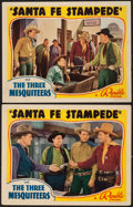 "Movie Posters:Western, Santa Fe Stampede (Republic, 1938). Lobby Cards (2) (11"" X 14"").Western.. ... (Total: 2 Items)"