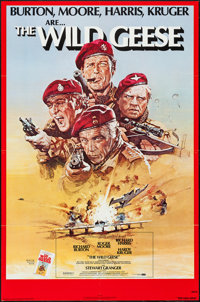 """The Wild Geese & Others Lot (Allied Artists, 1978). One Sheets (9) (27"""" X 41"""") & Mini Lobby Card Set o..."""