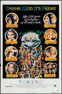 """Thank God It's Friday & Others Lot (Columbia, 1978). One Sheets (6) (27"""" X 41"""") Regular, Review, & Sty..."""