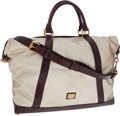 Luxury Accessories:Bags, Burberry Gold Metallic Coated Canvas Audrey Tote Bag with ShoulderStrap. ...