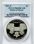 Modern Issues, 2011-P $1 Medal of Honor PR69 Deep Cameo PCGS. PCGS Population(777/138). NGC Census: (534/233). Numismedia Wsl. Price for...