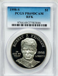 Modern Issues: , 1998-S $1 Robert F. Kennedy Silver Dollar PR69 Deep Cameo PCGS.PCGS Population (1178/43). NGC Census: (1285/63). Numismed...