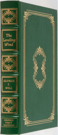 Books:Americana & American History, George F. Will. SIGNED. The Leveling Wind: Politics, the Cultureand Other News, 1990-1994. Easton Press, 1995. ...