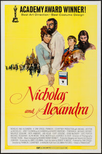 """Nicholas and Alexandra & Others Lot (Columbia, 1971). One Sheets (5) (27"""" X 41"""") Regular, Review, 7 Academ..."""