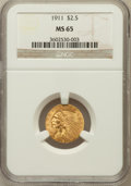 Indian Quarter Eagles: , 1911 $2 1/2 MS65 NGC. NGC Census: (179/6). PCGS Population (98/1).Mintage: 704,000. Numismedia Wsl. Price for problem free...