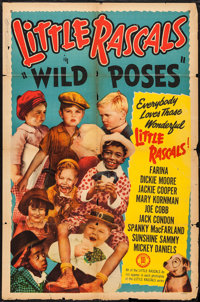 """Little Rascals Stock Poster (Monogram, 1952). One Sheet (27"""" X 41""""). Wild Poses. Comedy"""