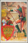 """Movie Posters:Swashbuckler, The Adventures of Robin Hood (Warner Brothers, R-1980s). Spanish One Sheet (27"""" X 41""""). Swashbuckler.. ..."""