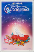 "Movie Posters:Animation, Cinderella (Buena Vista, R-1987). One Sheet (27"" X 41"") SlipperStyle. Animation.. ..."
