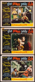 """Movie Posters:Comedy, The Seven Year Itch (20th Century Fox, 1955). Lobby Cards (3) (11"""" X 14""""). Comedy.. ... (Total: 3 Items)"""